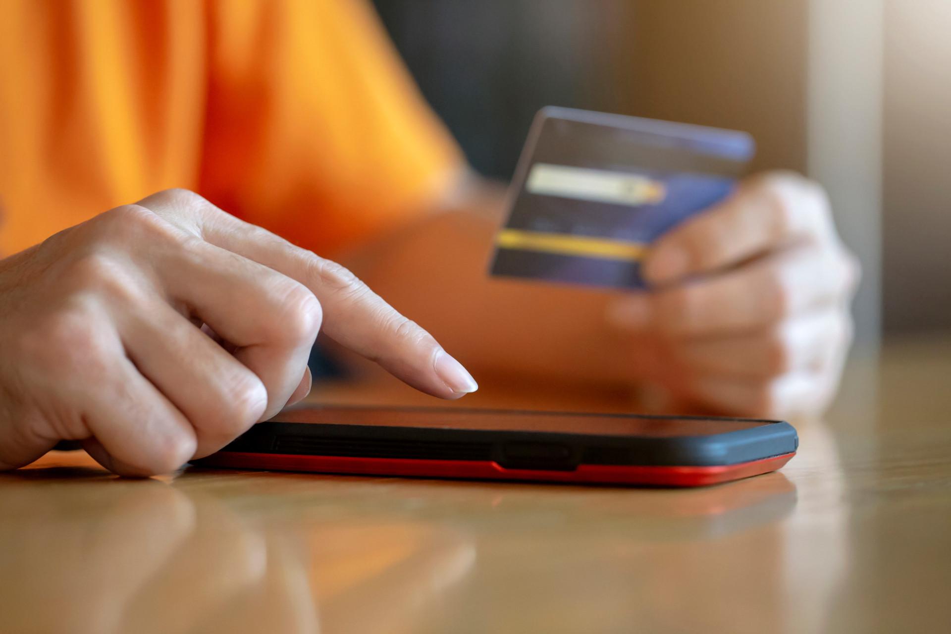 Paiement voyant carte bancaire